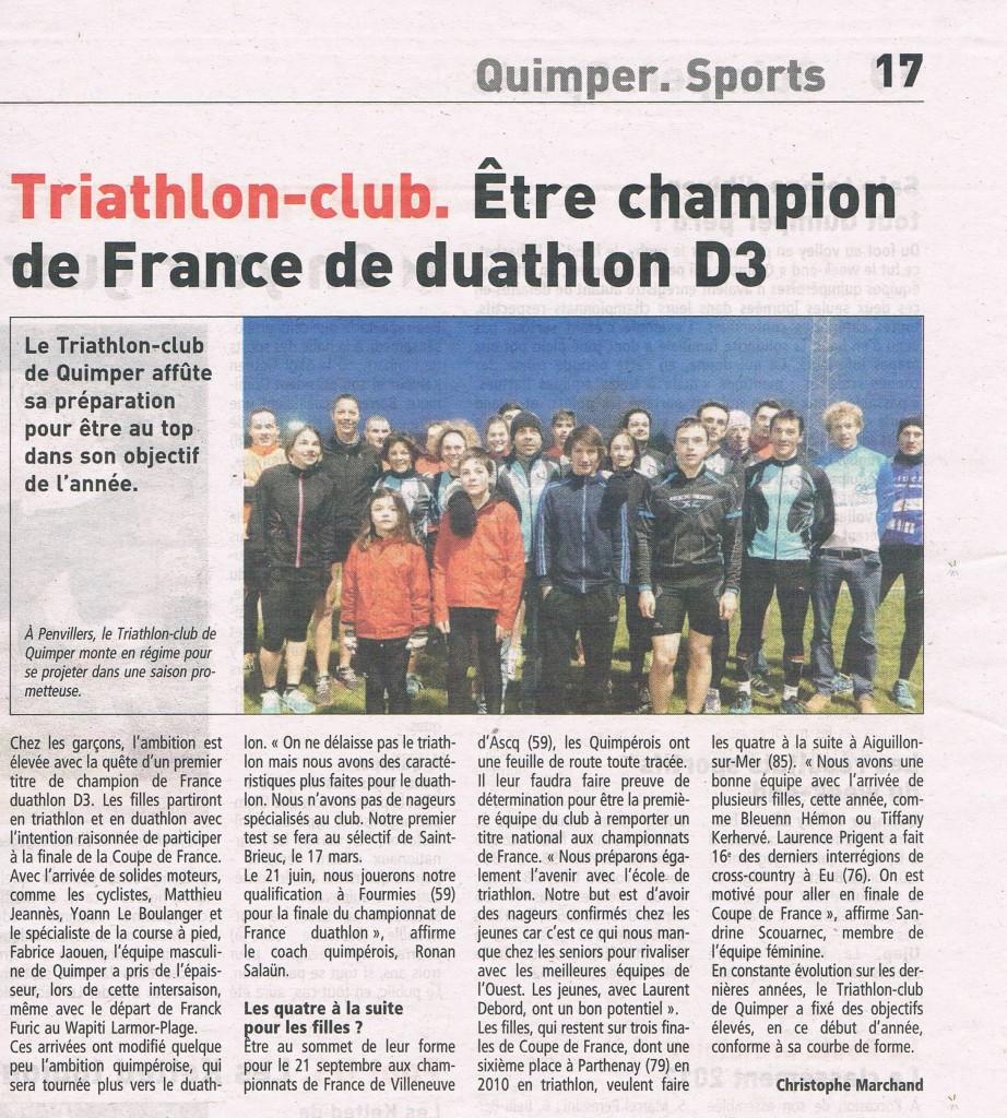 Le Télégramme 26 02 2013