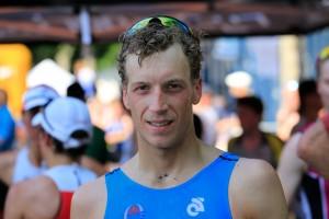 28e triathlon de Quimper. Dimanche 7 juillet 2013. (Matthieu Diverrès, TC Quimper, 4e).