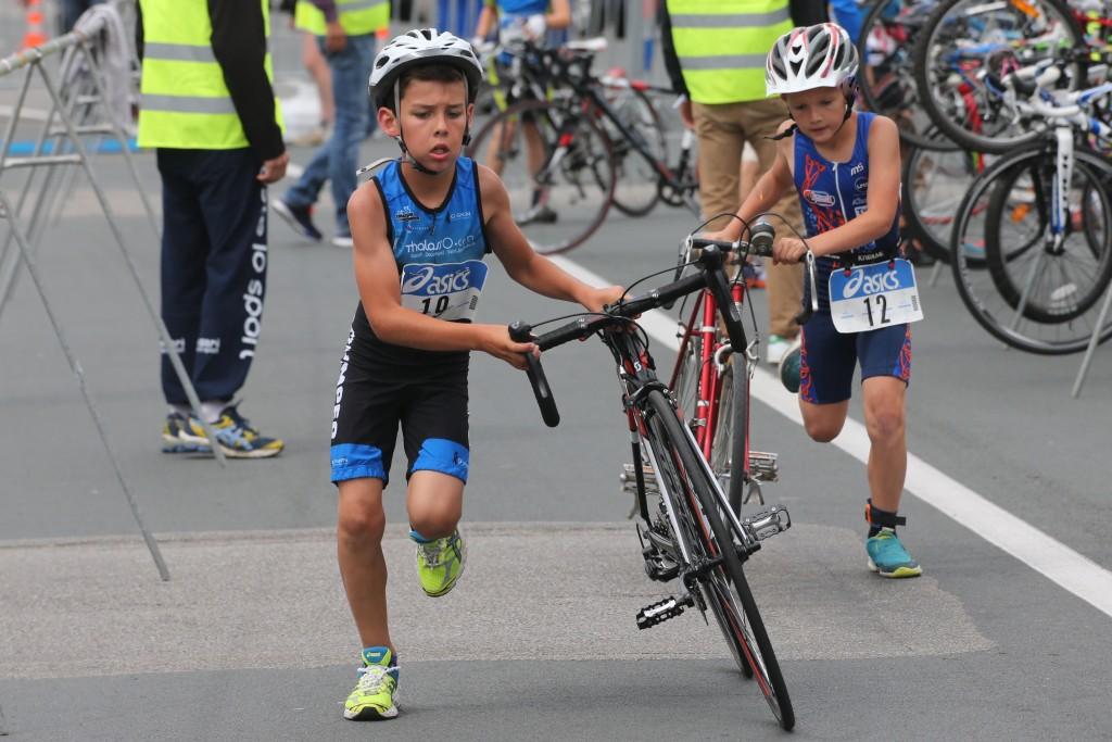 1re édition duathlon jeunes (9-14 ans) organisé par le Triathlon club de Quimper. Quimper le dimanche 12 juillet 2015.