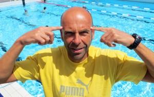 Ronan Salaun. Sophrologue, préparateur mental pour les sportif et entraineur du triathlon-club de Quimper. Samedi 6 juin 2015.