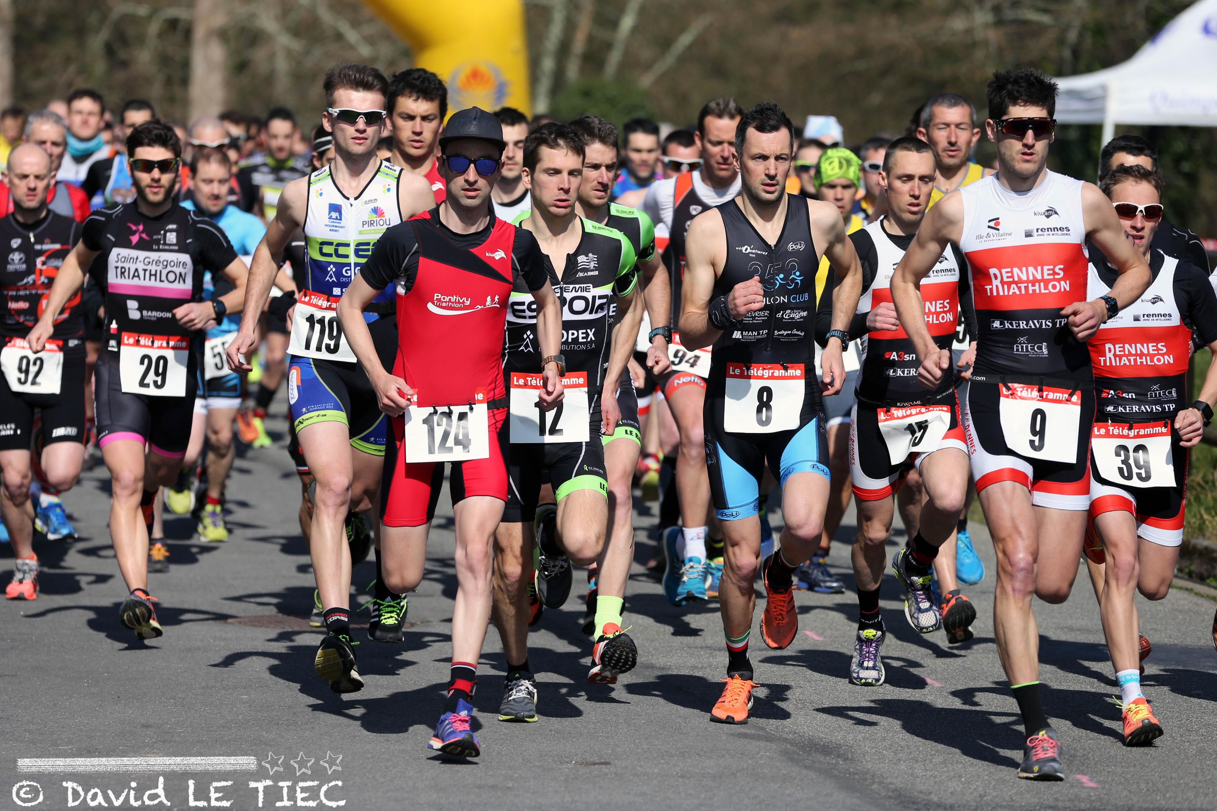 Championnats de Bretagne de duathlon à Quimper - Moulin vert, dimanche 20 mars 2016.