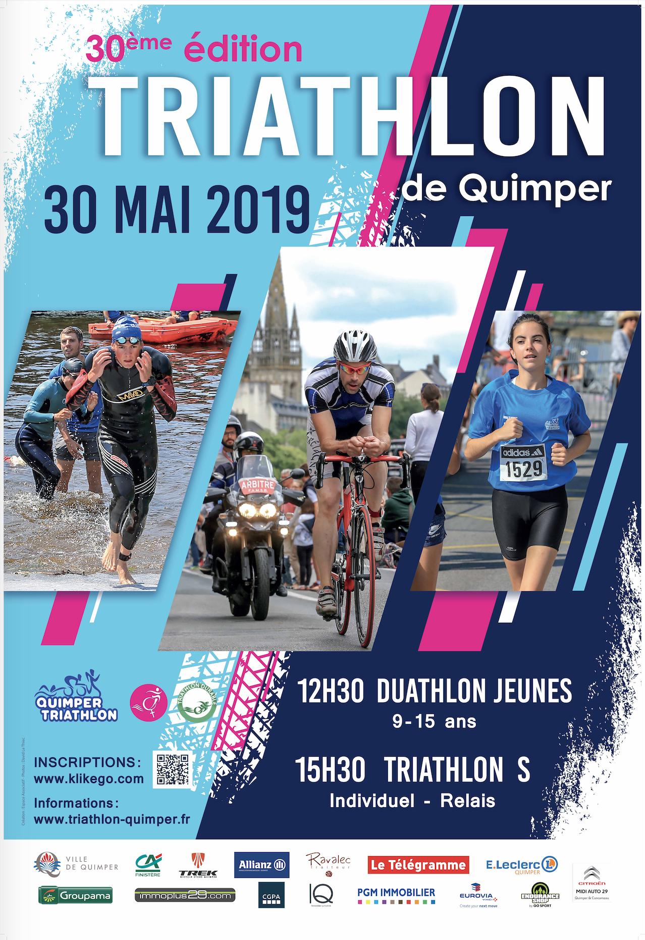 30e Triathlon de Quimper le 30 mai (cliquer sur l'image)