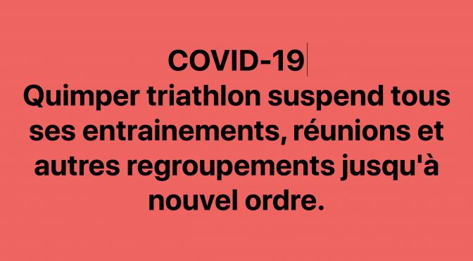 Le Quimper triathlon suspend toutes ses activités