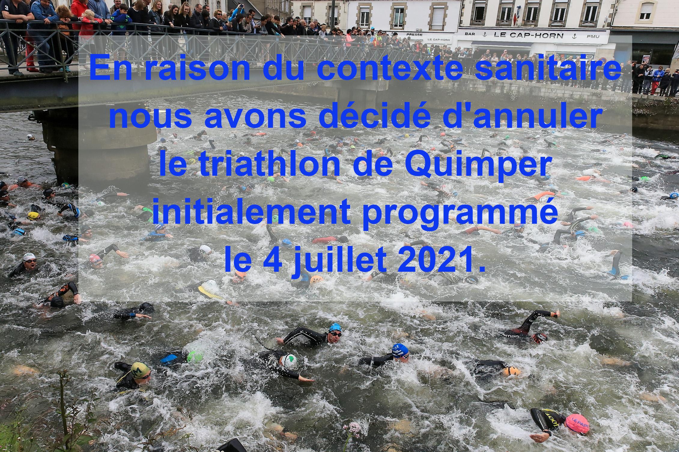 Annulation du triathlon de Quimper le 4 juillet 2021